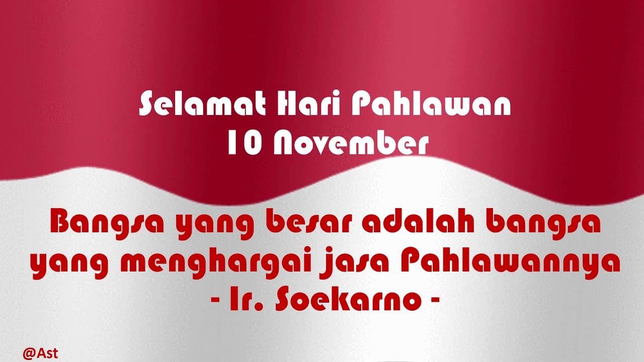 Video Ucapan Selamat Hari Pahlawan 10 November #HARIPAHLAWAN