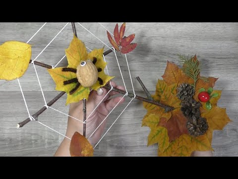 Осенние поделки в садик своими руками из природных материалов поэтапно