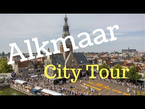 Alkmaar, The Netherlands(City Center Tour)with Summer Fair.. walking and cycling.. GoPro