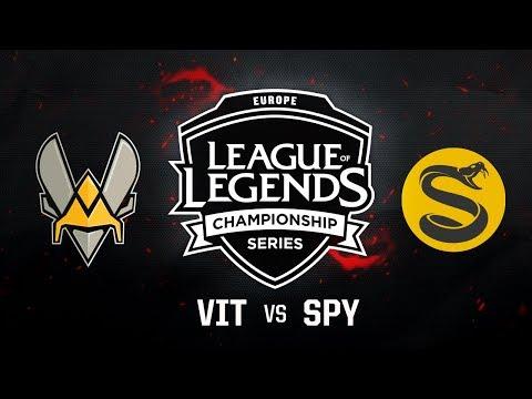 VIT vs. SPY - Week 10 Game 1   EU LCS Summer Split   Team Vitality vs. Splyce (2017)