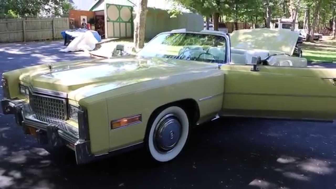 1975 cadillac eldorado convertible for sale beauty bamboo yellow fantastic condition youtube. Black Bedroom Furniture Sets. Home Design Ideas