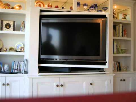 Revolving TV cabinet and bookcase - YouTube