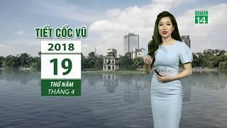 VTC14   Thời tiết 6h 19/04/2018   Mưa rào ở miền Bắc, dông tố ở miền Nam