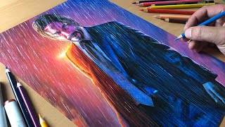 Drawing John Wick - Timelapse | Artology