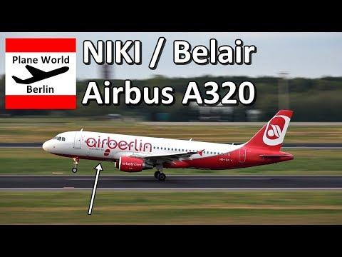 Belair / Air Berlin Airbus A320 *HB-IOP* Takeoff From Berlin TXL