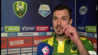 ADO-speler Mike Havenaar na ADO - Go Ahead Eagles