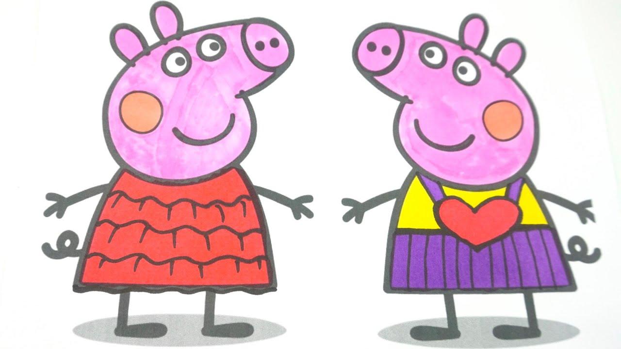 Свинка Пеппа рисуем и раскрашиваем новые наряды. Поделки своими руками