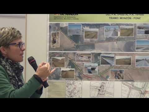 Estado de las obras de la carretera de Fonz a Monzón
