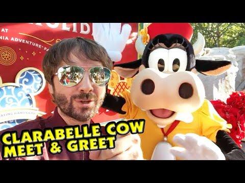 Clarabelle Cow Meet & Greet! First Time Meeting Clarabelle at Disney California Adventure! - 동영상