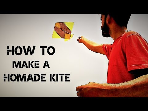 How to make Kite at home | Kite making tutorial | Diy Kite Making With Fly Kite Tie Kite Knots