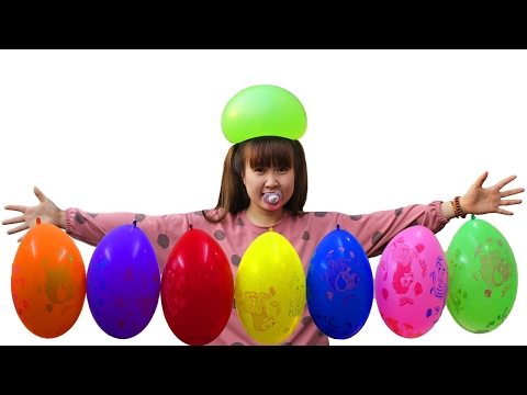 Thumbnail: Bad Baby Water Balloon Vs Water Gun Fight In House Victoria Annabelle Toy Freaks Hidden Toys