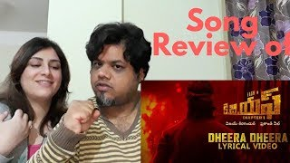 #KGF #Yash #Dheera Dheera Song with Lyrics Reaction|Foreigner Reaction|North Indian Reaction| |