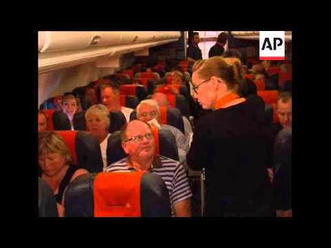 AP On Flight From Alicante To Iceland; Journey And Vox Pops