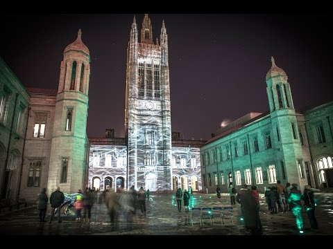 Marischal College Projection : 'Spectra - Aberdeen's Festival of Light