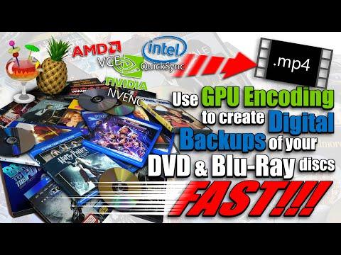 Make a Digital Backup Copy of DVD & Blu-Ray Discs Fast Using HandBrake & GPU Encoding
