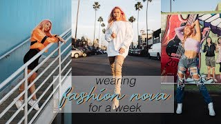 WEARING FASHION NOVA FOR A WEEK! (out of my comfort zone)