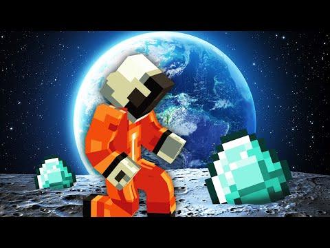 БЕСКОНЕЧНАЯ ФЕРМА АЛМАЗОВ НА ЛУНЕ! Пройди Все Квесты в Космосе и Будешь Богатый! - Minecraft