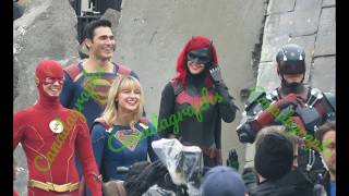 CRISIS ON INFINITE EARTHS - Supergirl scenes shot with Flash, Green Arrow, Superman, Batwoman + more