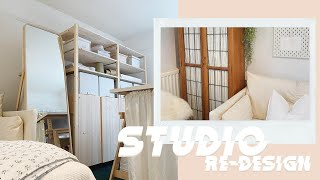 STUDIO RE-DESIGN | BUILDING NEW IKEA STORAGE & PAINTING THE ROOM | MsRosieBea