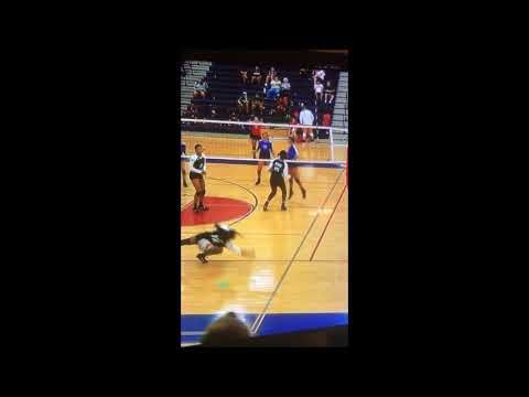 Colby Gonzalez #6 Gregory Portland High School Volleyball Game Fall 2017