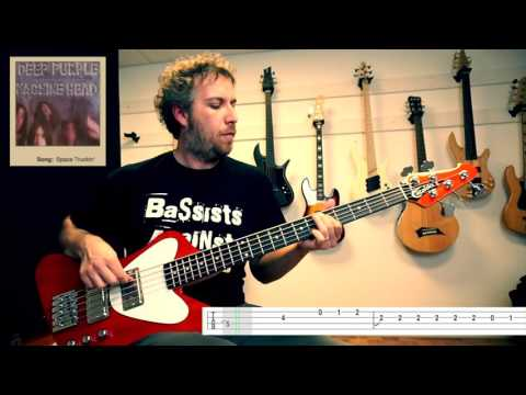 How to play Deep Purple Space Truckin' main bass riffs