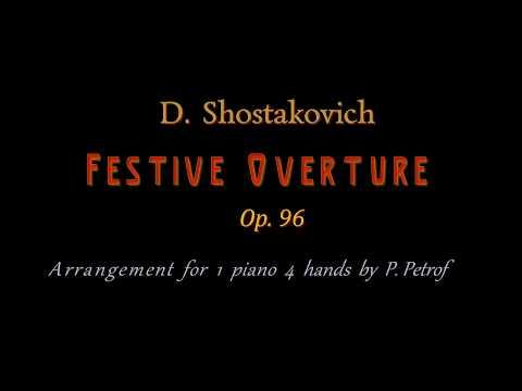 D. Shostakovich - Festive Overture - 1 piano 4 hands, sheet music