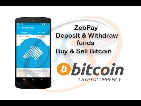 ZebPay Deposit & withdraw funds | buy & sell bitcoin