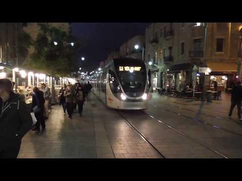 Downtown Jerusalem -Israel- At Sunset December 2016