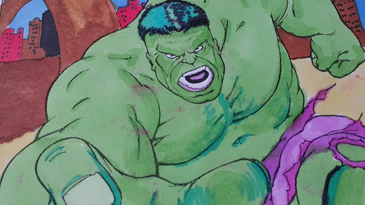 Yeşil Adam Hulk Boyama 2 Youtube