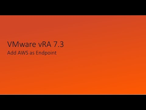 VMware vRA add AWS as endpoint