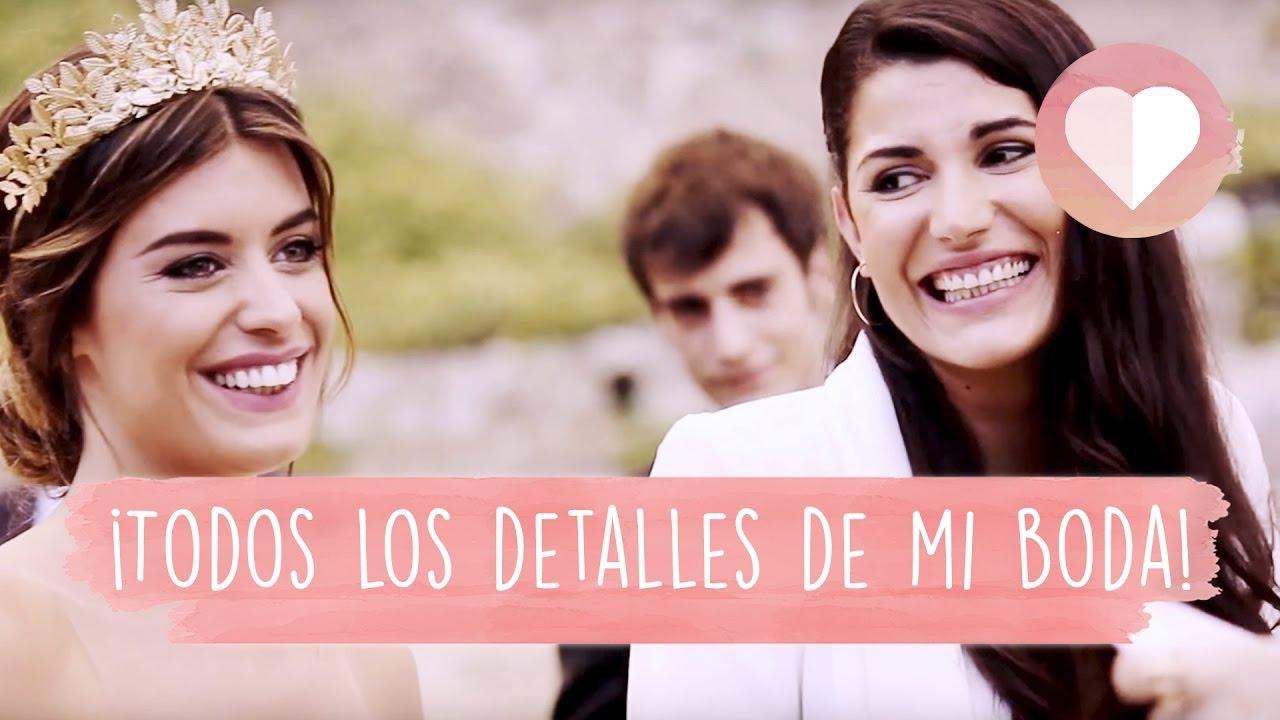 TODOS LOS DETALLES! - #DULCEWEDDING DULCEIDA Y ALBA - YouTube