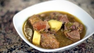 How To Make Chile Verde - A Delicious Pork Stew With Roasted Tomatillos, Garlic, Tomato