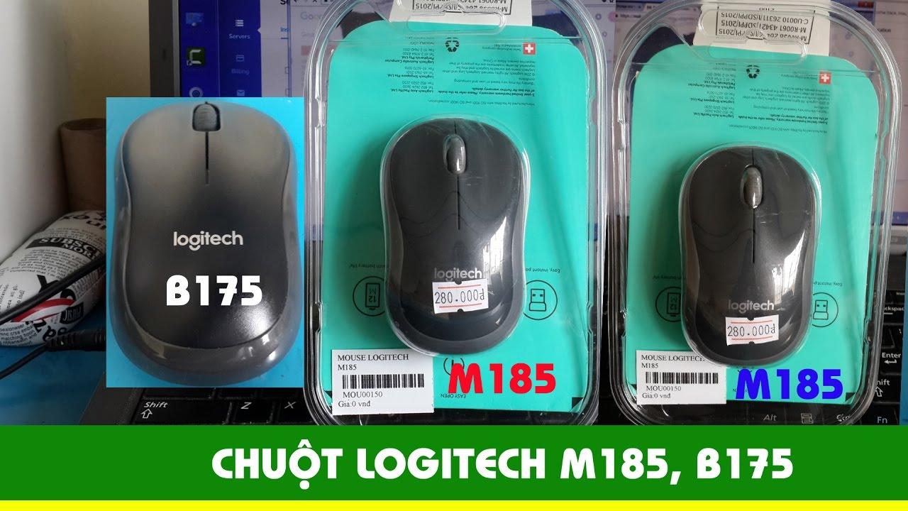 Giới thiệu chuột máy tính logitech B175, M185