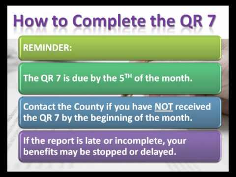 How to Complete the QR 7 Form - YouTube