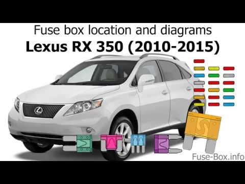 Fuse box location and diagrams Lexus RX350 (2010-2015) - YouTube