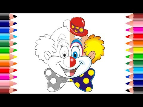How to draw Circus Clown for children   online Coloring Book   Setoys