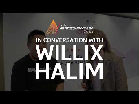 Willix Halim from Bukalapak at the Indonesia Australia Digital Forum