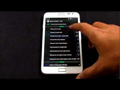 How To Backup/Restore Apps & Data Using Titanium Backup - Android Devices