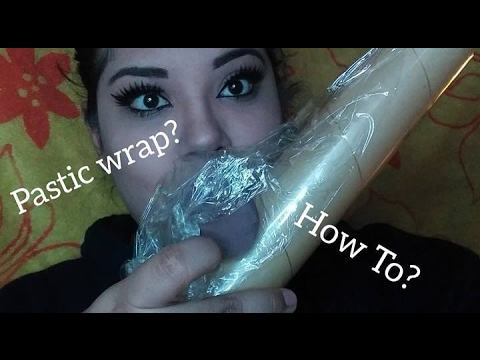 APPLYING MAKEUP WITH PLASTIC WRAP / HOW TO BROWS, LINER, CONTOUR