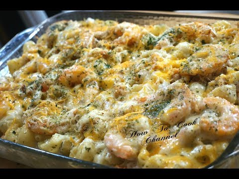 How To Make Lobster Crab & Shrimp Baked Macaroni And Cheese Recipe
