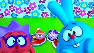 Смешарики все серии подряд - Весёлое видео для Детей с игрушками Смешарики