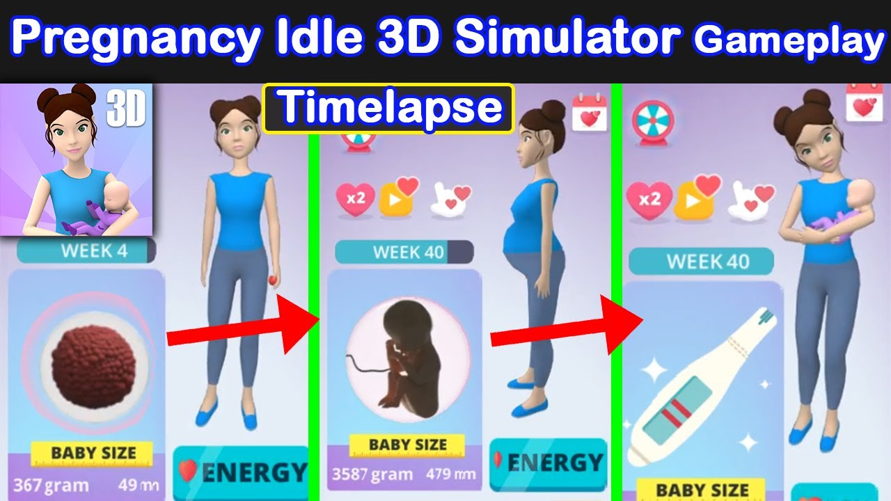 Adorable Pregnancy Time Lapse! – 40 weeks Time Lapse – Pregnancy Idle 3D Simulator | MG Games