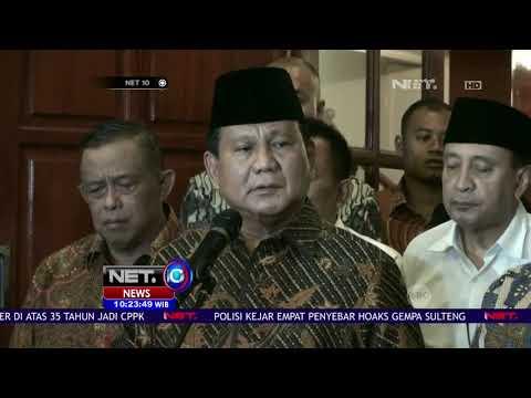 Prabowo Minta Lapor ke Polisi Atas Dugaan Penganiayaan Ratna Sarumpaet - NET10