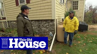 How to Drain Downspout Water Flow Away from a House | This Old House