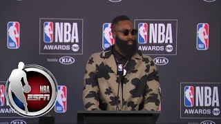 [FULL] James Harden full press conference after winning 2018 NBA MVP Award | NBA on ESPN