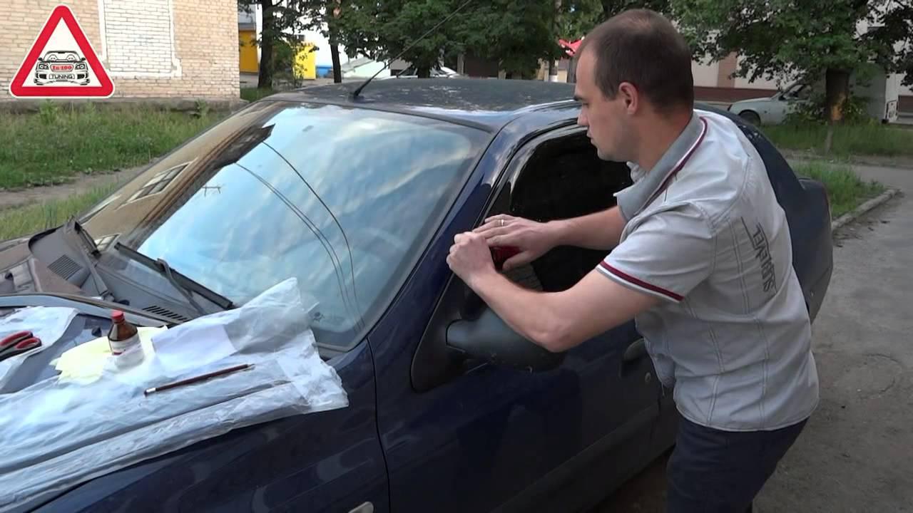 Установка дефлекторов (ветровиков) Cobra Tuning на Renault Symbol .