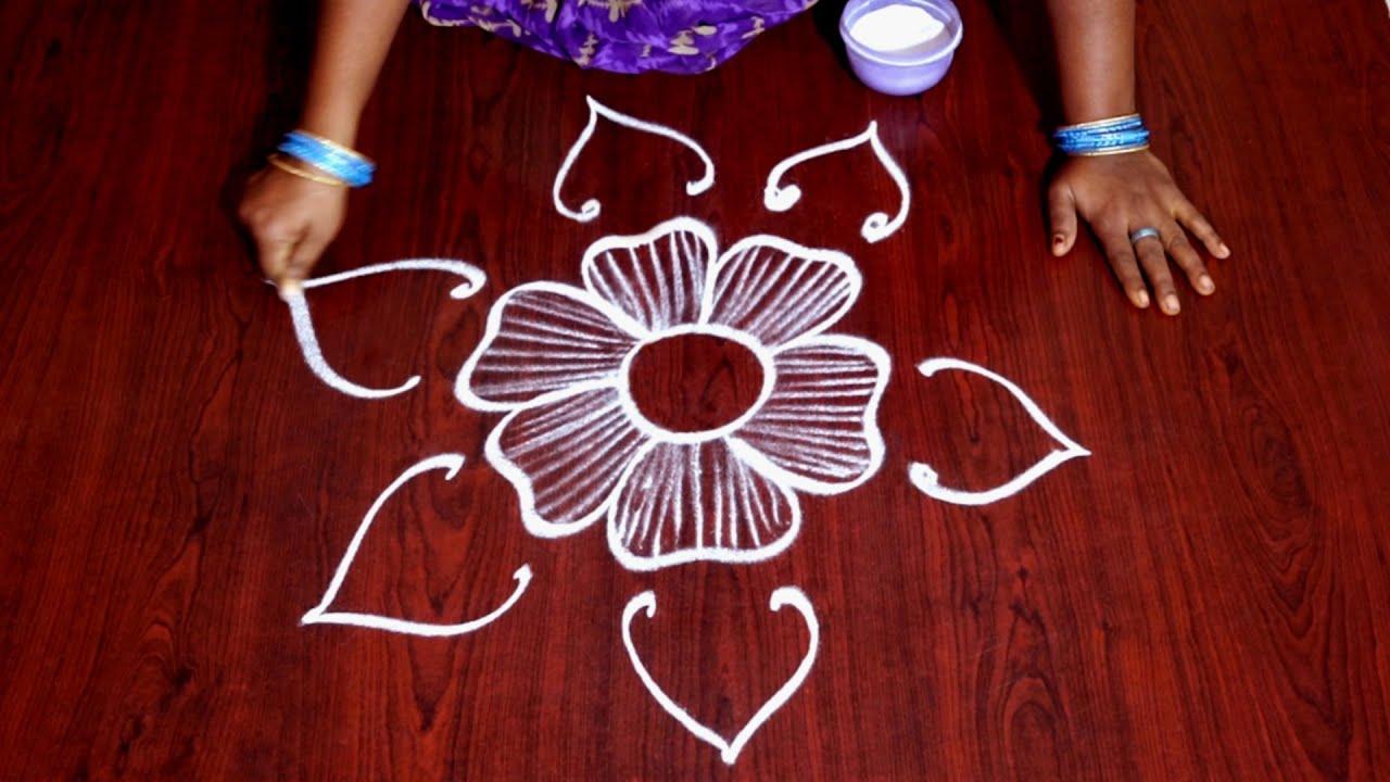 Latest Rangoli Designs 2018 Simple Easy Rangoli Designs Telugu Muggulu Without Dots Kolangal Designs Youtube