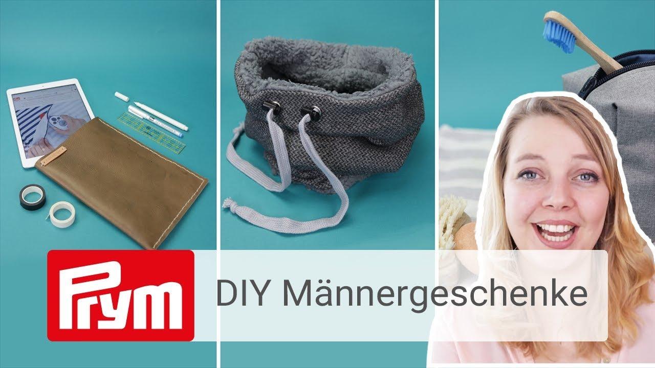 3 Diy Geschenke Fur Manner Nahen Basteln Mit Nastja Youtube