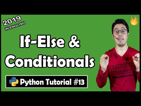 If else conditionals in Python | Python Tutorial #13 thumbnail