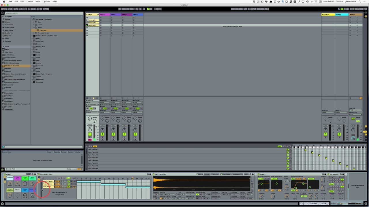 Ableton Master Template Piano Youtube